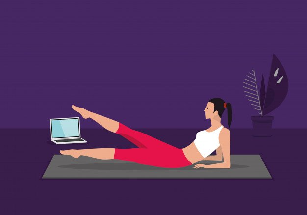 home-fitness-workout-class-live-streaming-online-woman-doing-training-cardio-aerobic-exercises-watching-videos-laptop-living-room-